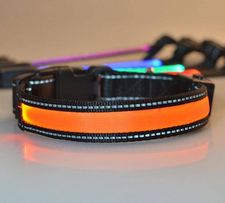 The new solar LED light-emitting collars, Pet usb flash charging collar