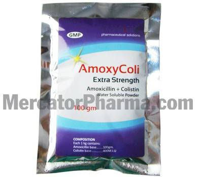 Veterinary Amoxicillin + Colistin Water Soluble Powder