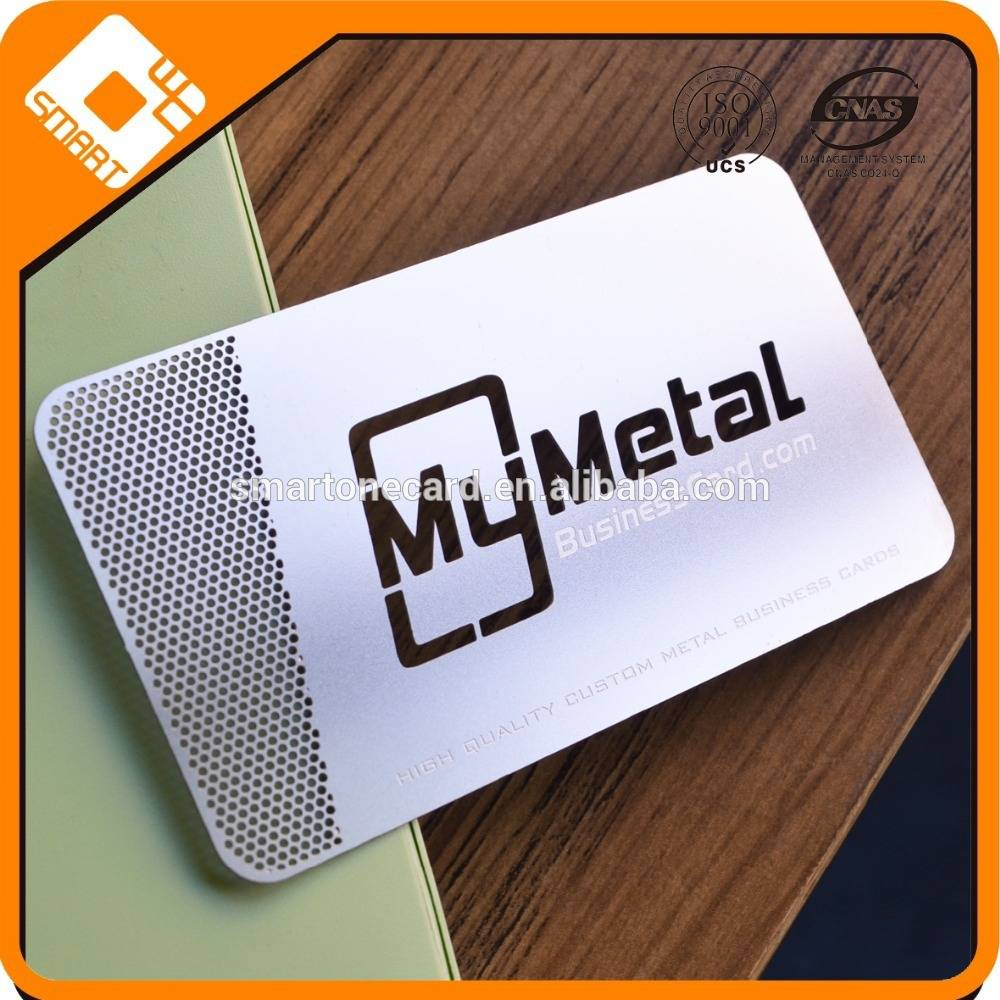 Factory Price Customize Metal Business Punch Card,Metal Hollow Business cards