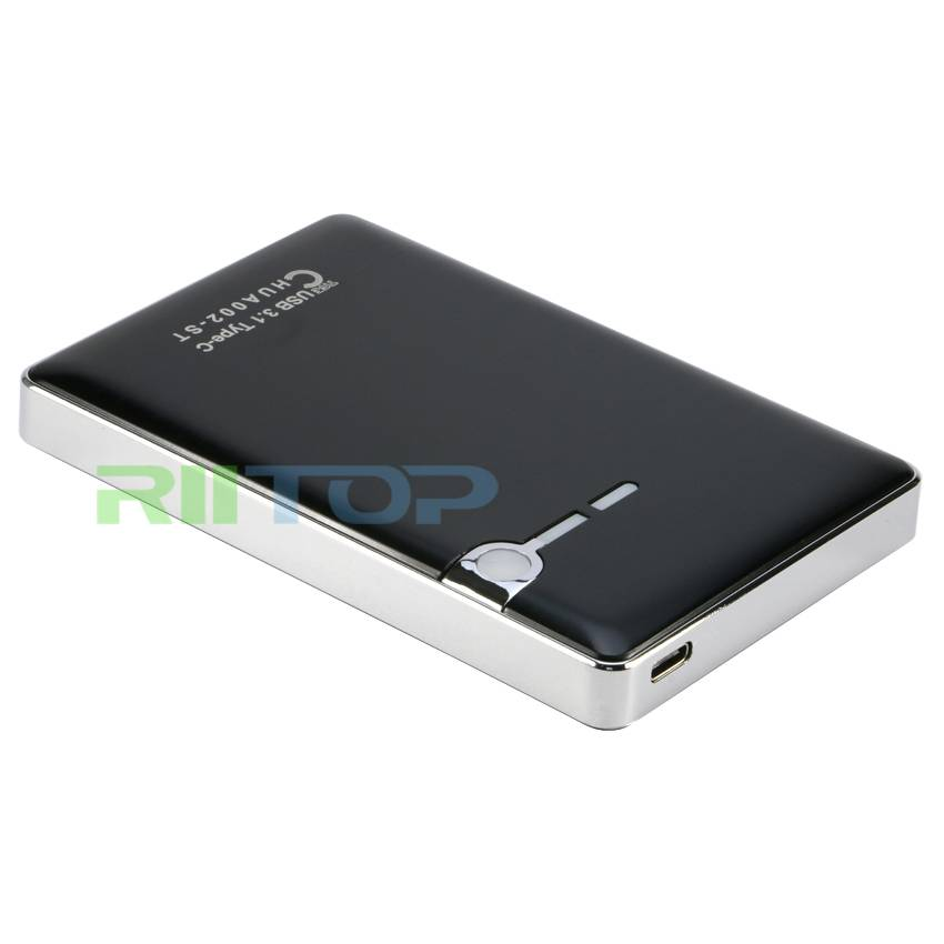 Externo AES-256 Encrypted HDD Enclosure USB3.1 Type-C To SATA Case For 2.5inch Hard Disk Box