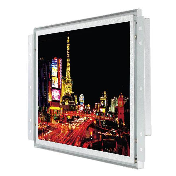 15inch Industrial Open Frame LCD Monitor/PCAP, IR, RES, SCAP, SAW Touch/ 450cd(Nit)/1024x768/RGB,DVI