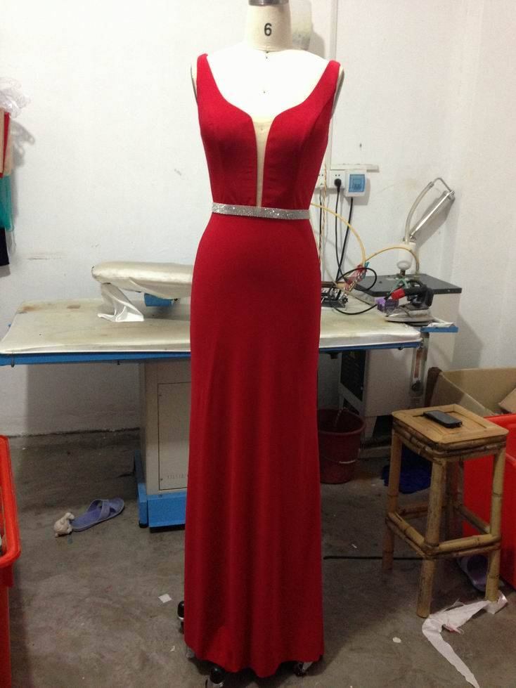 2016 hot selling evening dress M014