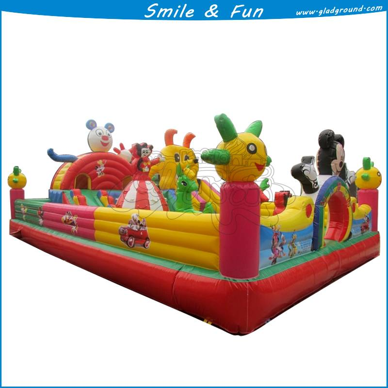 Inflatable toddler playground for children size 13*10m with CE