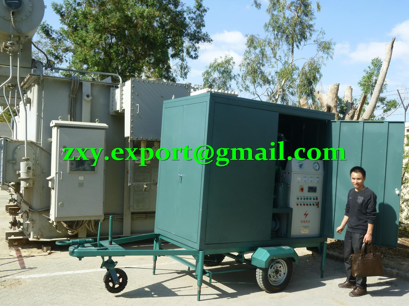 TRAILER-MOUNTED Onsite Transformer Oil Purification & Oil Dehydration System