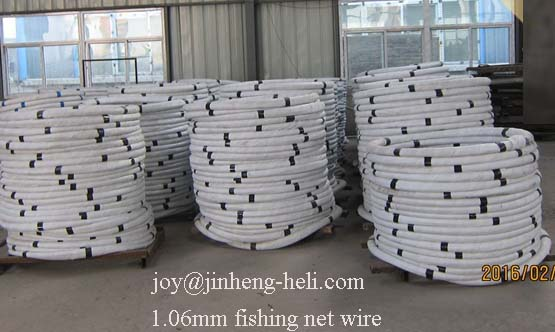 Galvanized Steel wire for Fishing Net /cage wire 1.18/1.03/1.06/1.25mm