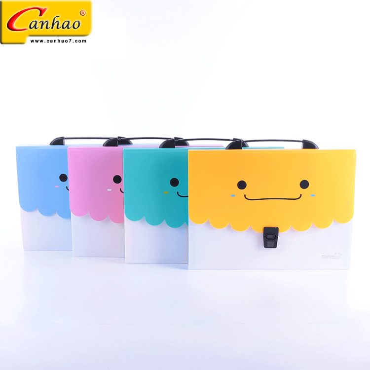 cartoon office hand carry document folder expanding file