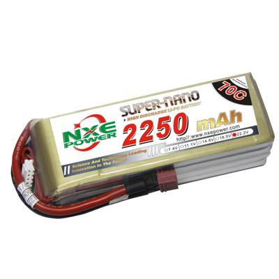 NXE2250mAh-70C-22.2V Softcase RC Helicopter Battery