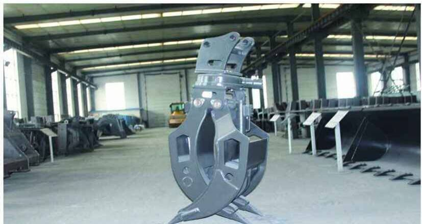 HARDOX Wearable and high strength Rotary log grapple and  hydraulic pressure systerm log grapple