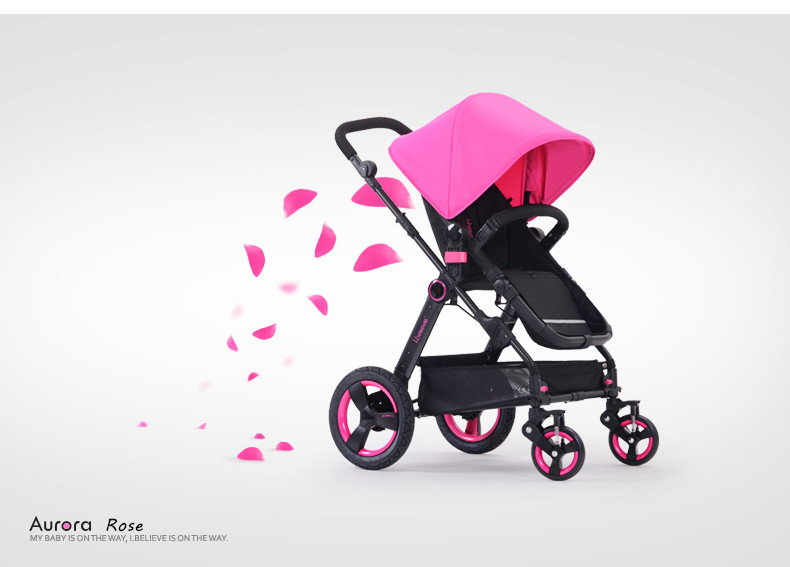 Aluminum Alloy Frame Material and Baby Stroller Type safe material baby stroller carriage I-Believe