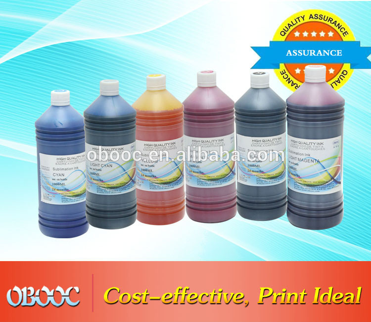 China Sublimation Ink Manufacturer OBOOC 1L Dye Sublimation Ink