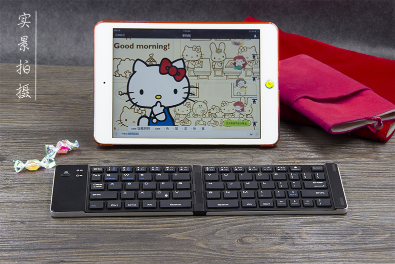 Cost-effective and folding universal wireless Bluetooth keyboard for IOS&windows&Android smartphone