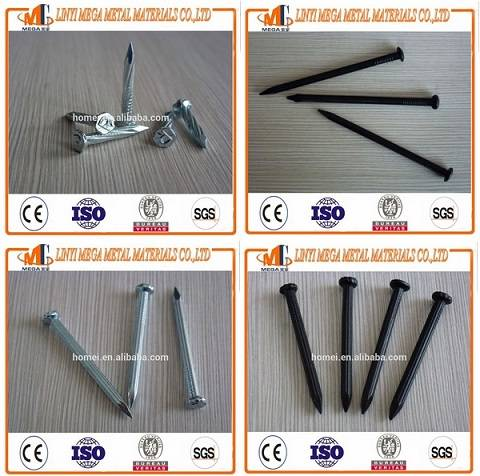 Hot Sale Concrete Steel Nails China Supplier Black Galvanized Hardened Steel Concrete Nails