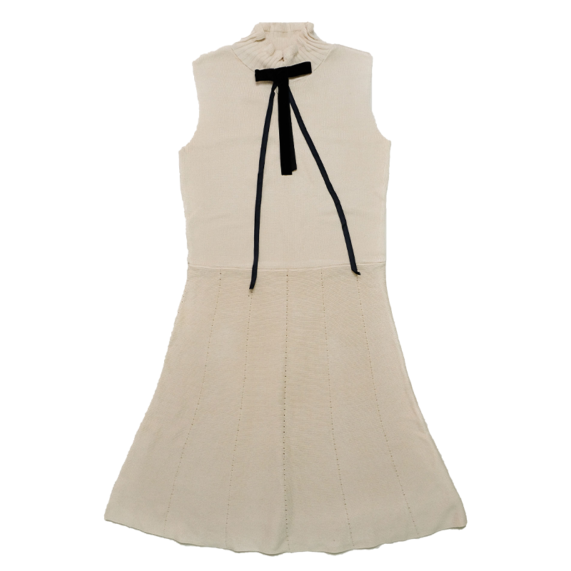 2021ss New Arrival Women's Fashion Bow Embellished Knit Dress