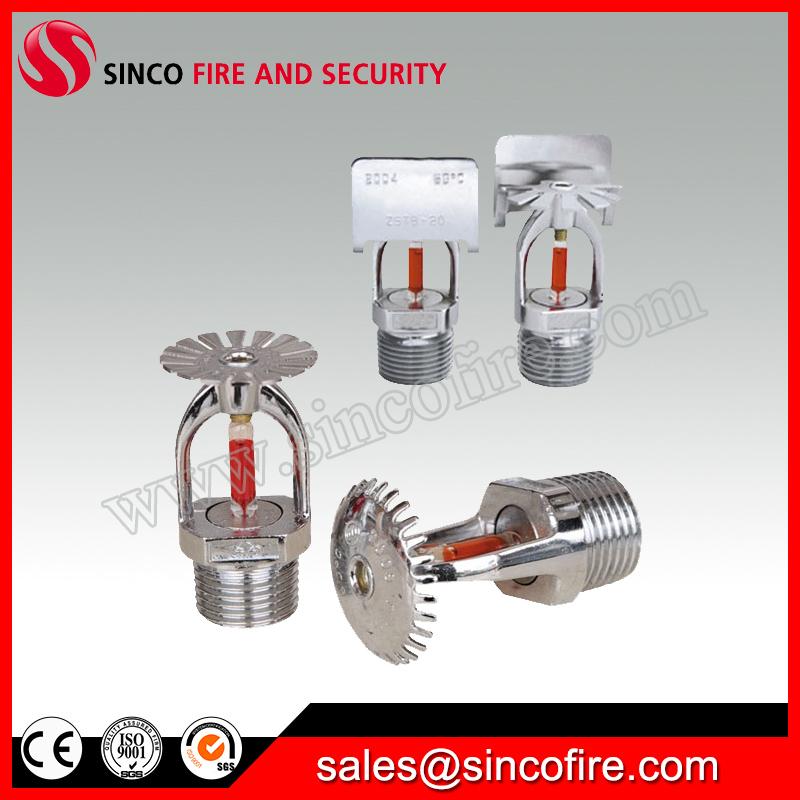 Standard response chrome finished fire sprinkler for fire fighting system