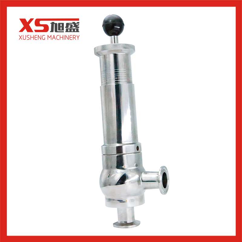 1-6bar 316L Sanitary Stainless Steel Adjust Pressure Safety Valve