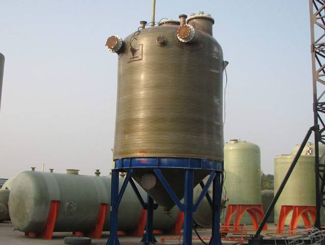 GRP tanks for iron packling process