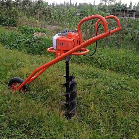One man portable earth auger drilling machine 63cc