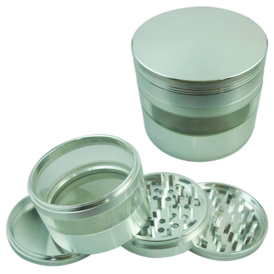 AG016-Dia: 100mm-CNC Aluminum Weed Grinder