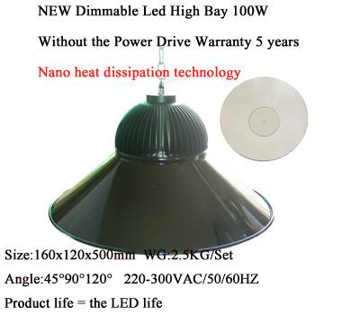 100W LED High Bay Light 5730SMD IP40 Dimmable Warehouse Industrial Lamp
