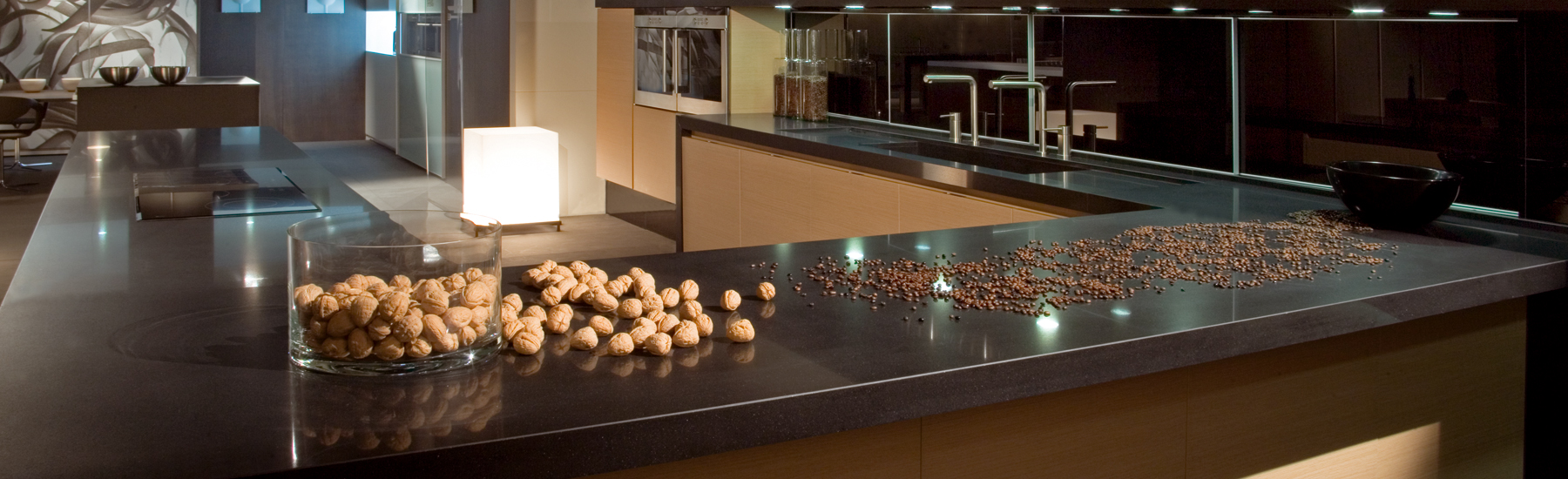 Gem Brand Jet black quartz countertops