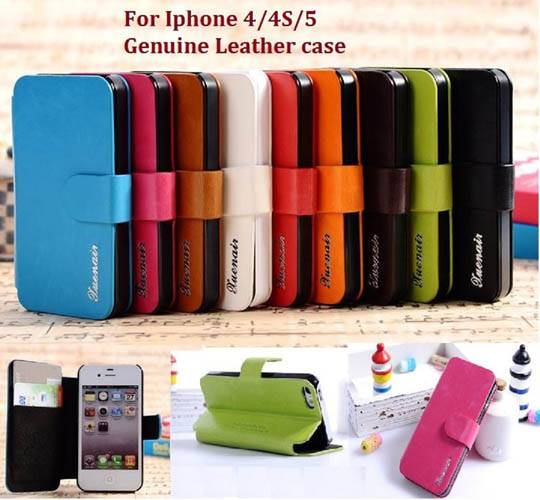 new genuine leather case for i4 i4s I5 in multi-color phone shell