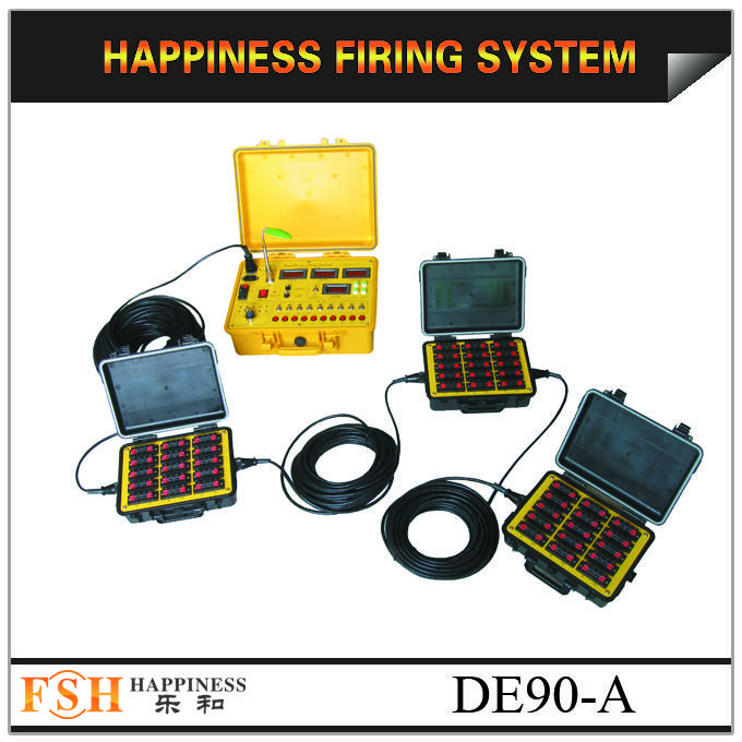 liuyang happiness fireworks firing system,Waterproof case, 90 channels wire control with sequential
