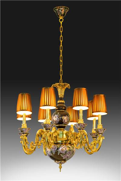 """""""Great Rich and Honour"""" Cloisonne Ceiling Lamp"""