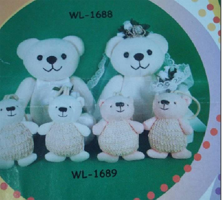 Bride Teddy bear with wedding cloth