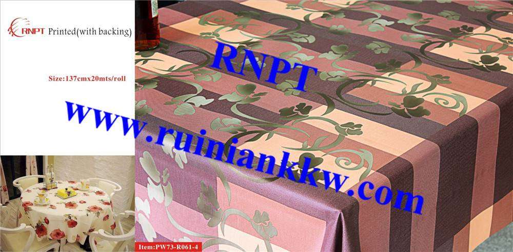 Iran hot sales RNPT PW73-R061-4 3D Printed Table Cloth with backing for Israel, Iran, Turkey