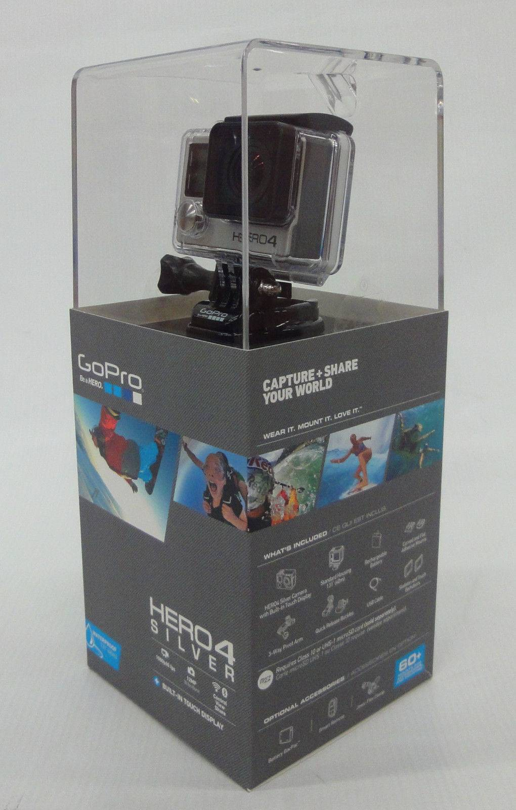 New Original GoPro HERO4 Touch Screen Camcorder Hero 4 SILVER Edition, Free Shipping