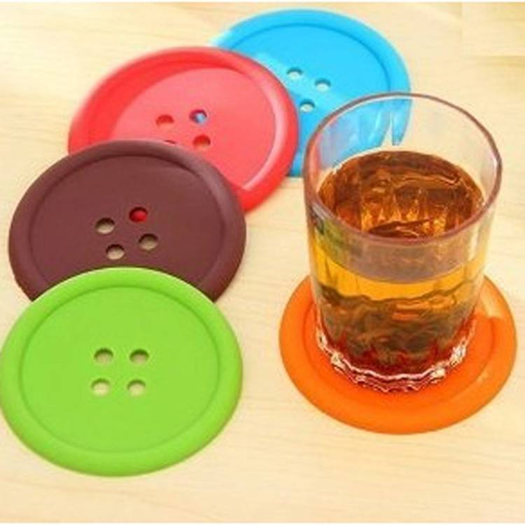 button pvc cup mat placemat for coffee cup