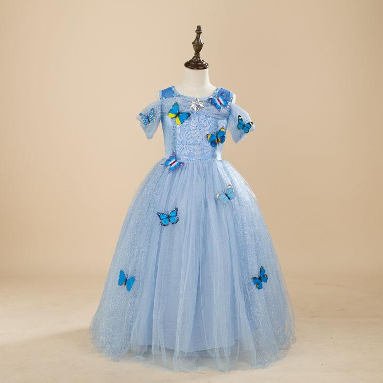 Halloween Costume Elsa Snow Queen Party Dress