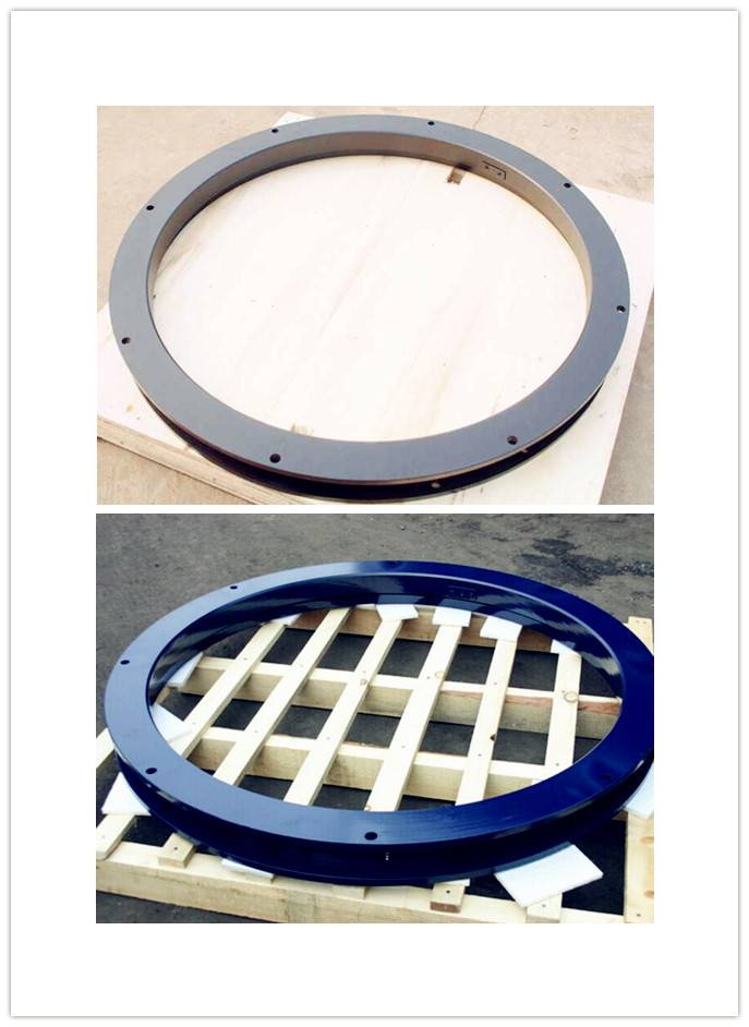Semi-trailer slewing ring turntable of trailer parts