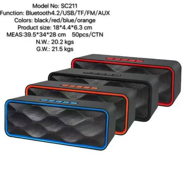 2016 new arrival Portable bluetooth speaker outdoor wireless speaker SC211