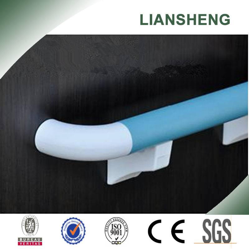 Hospital Protection PVC Wooden Handrail