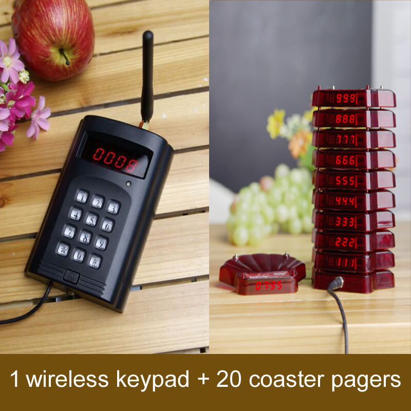 wireless guest pager, restaurant coaster pagers,guest wireless calling pager, Leetek wireless pager