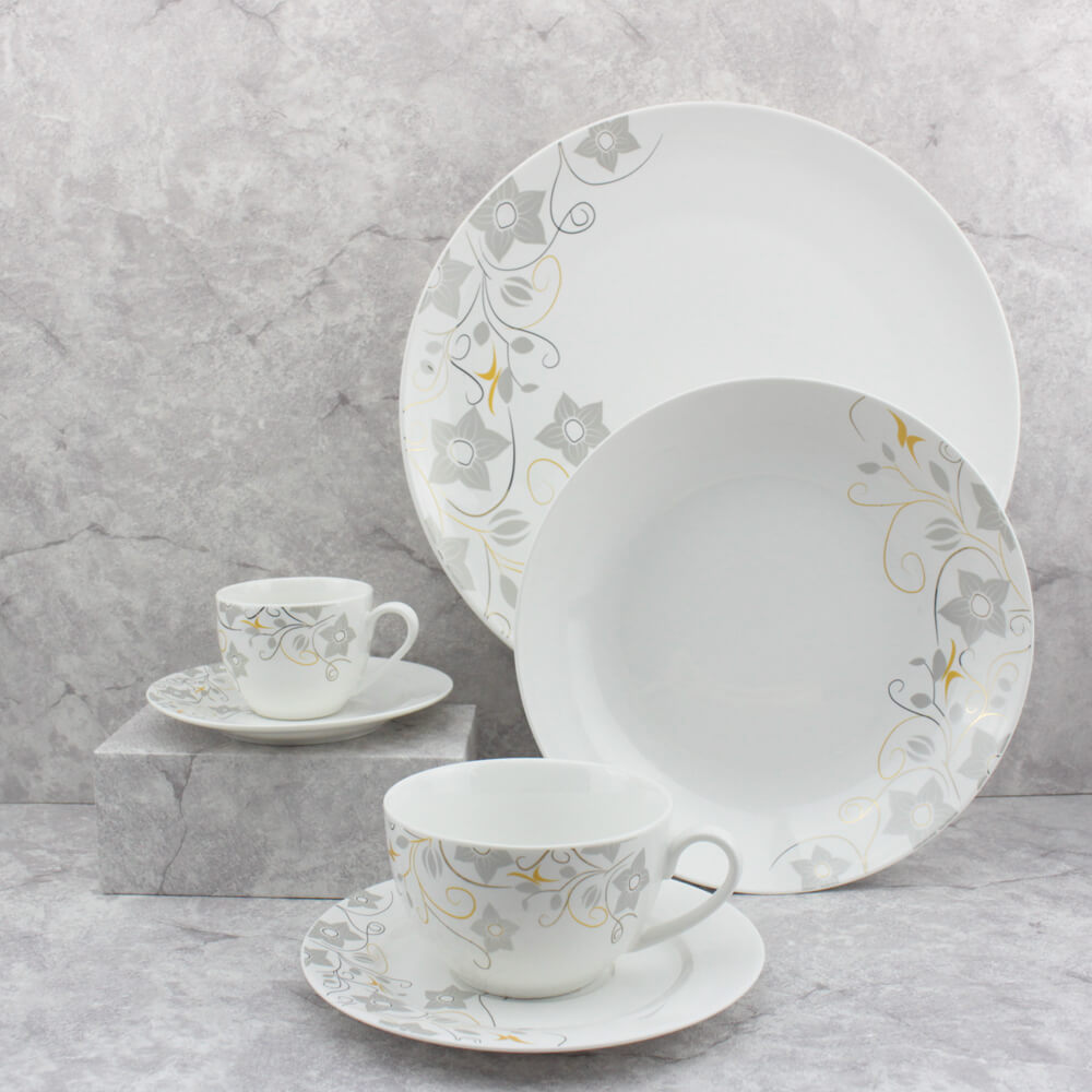 cream colored personalized dinnerware