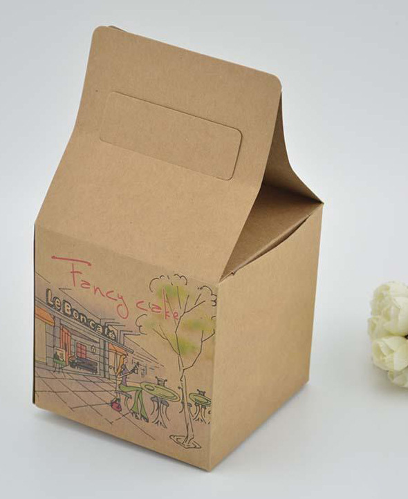 Disposable paper portable fast food packaging box