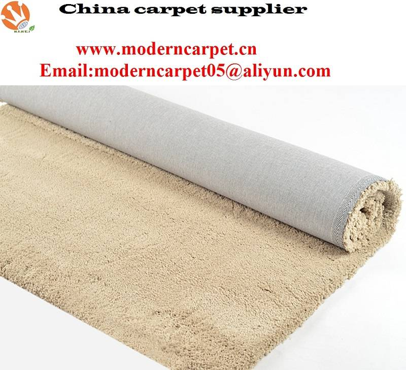 chinese Polyester microfiber shaggy carpet rugs