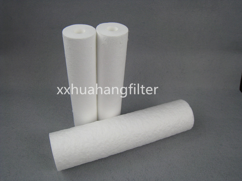 PP water melt blown filter cartridge with pp core for water treament