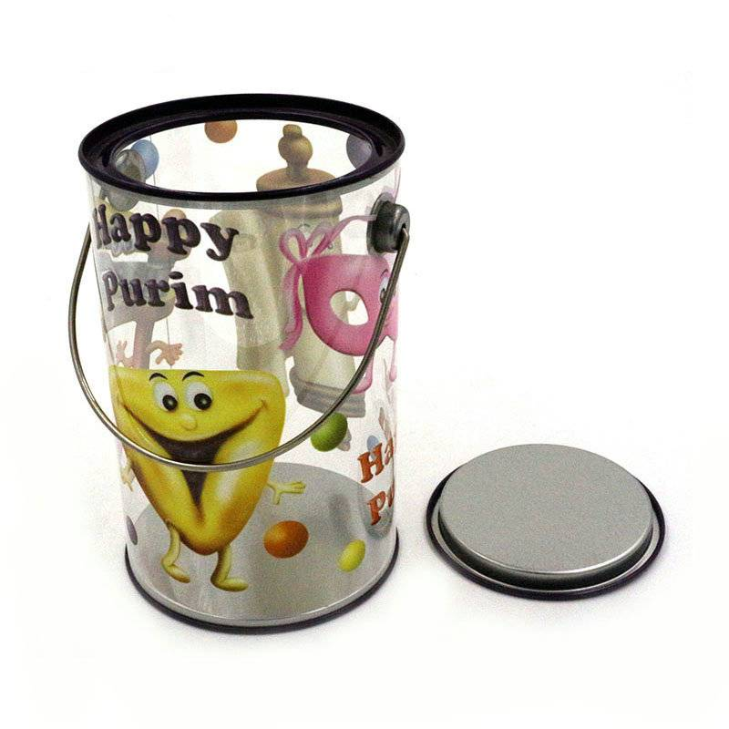 Christmas gift round food and candy tin box