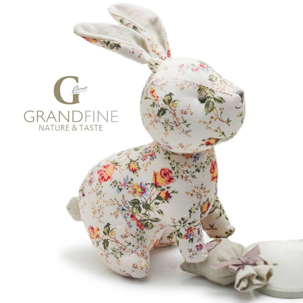 Brand new 100% cotton stuffed rabbit fabric baby kid toy doll 2016 toys dolls with EN71 test report