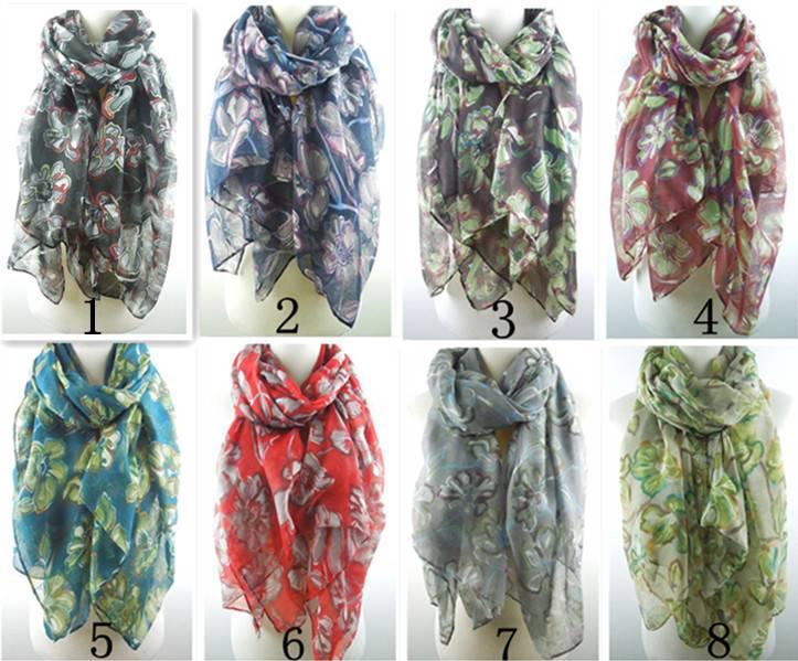 2015spring blooming little flowers print scarves PG
