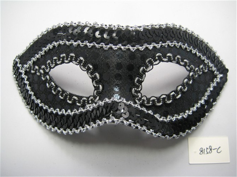Masquerade Halloween Christmas Glittering Sequins Party Eye Mask