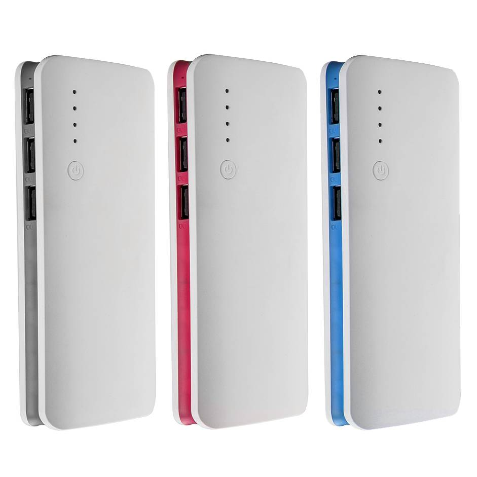 Large capacity 13000mah mobile power bank with 3 USB Charger