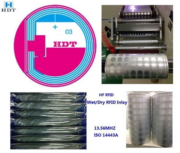 Diameter25mm RFID Hf Wet&Dry Inlay (HDT)