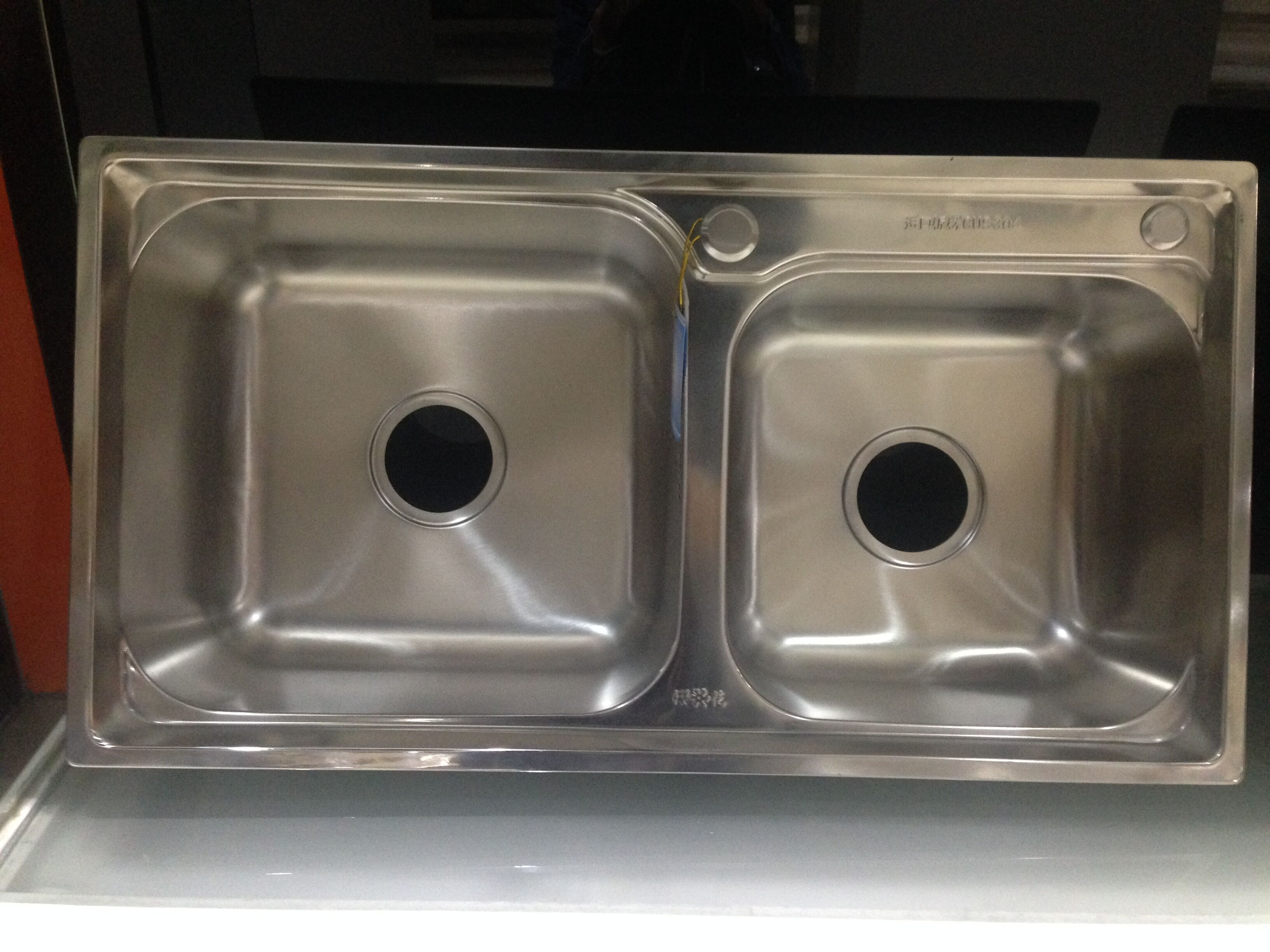 topmount double unequal bowl stainless steel kitchen sink made by Wenying WY-7540