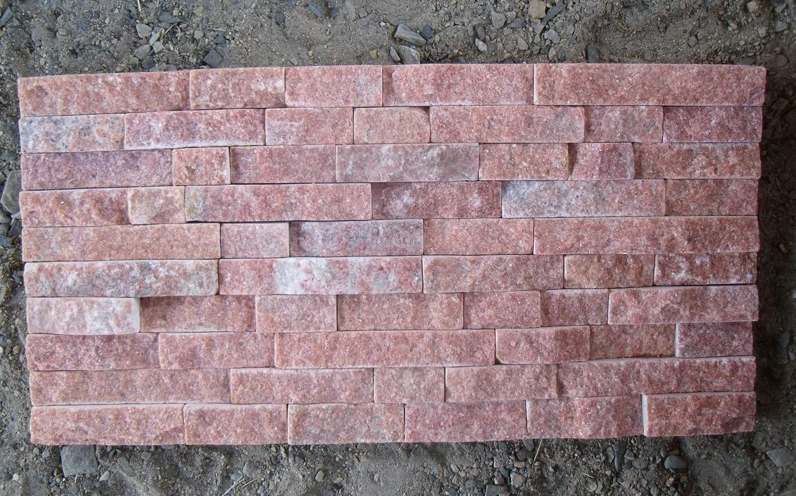 pink culture stone for exterior wall decorations