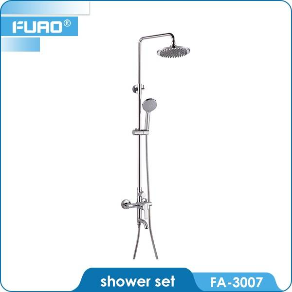 Wall mounted concealed bath shower set