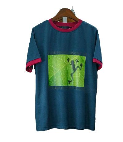 Summer frog printed lettering T-shirts
